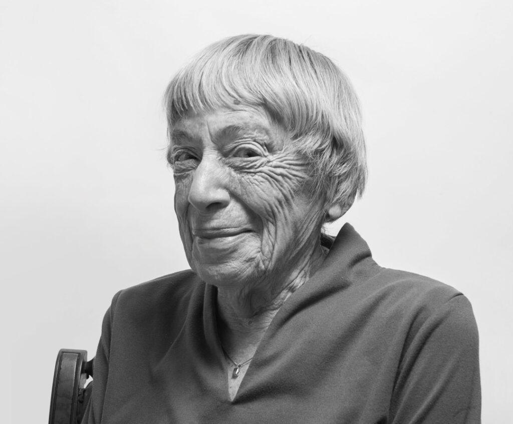 Ursula LeGuin, smiling.